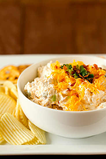 Loaded Baked Potato Dip | Chella's Common Cents
