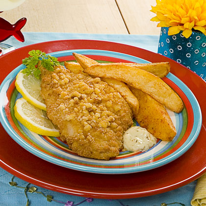 Oven Fried Fish on Oven Fried Fish Chips Is A Quick No Mess Way To Get A Great Family