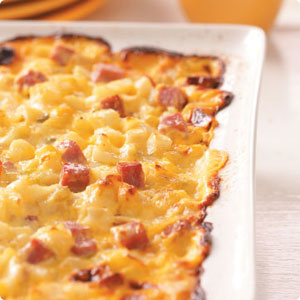 Cheesy Ham Hashbrown Casserole | Chella's Common Cents